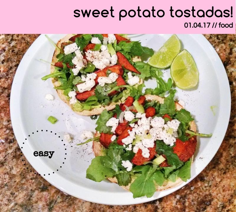 sweet potato tostadas!